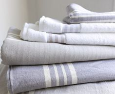 Small Hammam Towels in Light Grey Striped Towels, Comfy Sofa, Cotton Towels, Bathroom Inspiration, Sofas, Bed, Furniture, Beautiful, Hong Kong