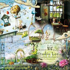 $14.00 Bunnies, Bees And The Birds' Big Balloon ~ A Spring Collection ~ By Lorie (complete?  theres an elements listed next)