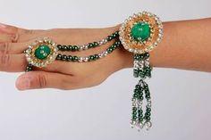 I found this beautiful design on Mirraw.com Bracelet :: band:: bhabhi rakhi with ring ab2