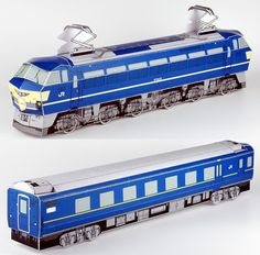 Retired Japanese Trains Paper Models In HO Scale - by West JR. - == -  West Jr. website offers some beautiful paper models of old Japanese trains, all in HO scale (1/87 scale). Perfect for railway maquettes.