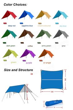 Only US$42.99, buy best Outdoor Sunshade UV Waterproof Camping Canopy Shade-shed…