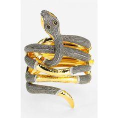 While I despise snakes...this Judith Jack Statement Bracelet is beautiful!
