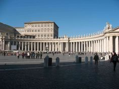Rome, Italy.  Vatican Square, well half of it, it's a semicircle, the opposite side is identical to this.