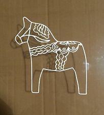 Swedish Dala Horse - Scandinavian, Vinyl (2) Stickers Car Decal