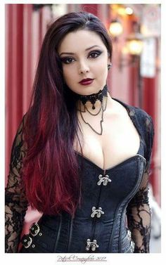 #goth #gothic #dark #girl #fashion #corset #dress
