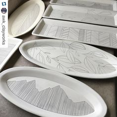 "160 Likes, 5 Comments - GR Pottery Forms (@gr.pottery.forms) on Instagram: ""#Repost @awk_clayworks with @repostapp. ・・・ Platters all lined up for glazing today! These guys…"""