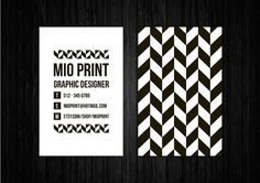 New black and white pre made business card design by Mio http://etsy.me/1r1EGGj