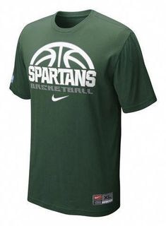 d5ad235e9a5 Michigan State University Nike Basketball Practice T-shirt   basketballcoaching  basketballskills Basketball Design