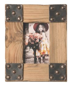 Take a look at this Pewter Finish Picture Frame by Picture Perfect: Frames on #zulily today!  Check out this with leather!