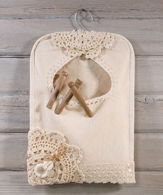 Look at this #zulilyfind! Vintage Crochet Clothespin Bag by Ohio Wholesale, Inc…