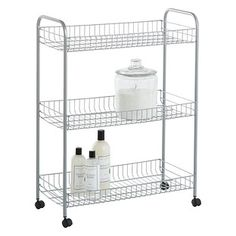 Use our Grande Rolling Cart for extra storage anywhere you need it - in a bathroom, dorm room, pantry or office. Since it's on casters, you can move it anywhere it's needed. Container Store, Kitchen Cabinetry, Metal Cart, Rolling Cart, Washer And Dryer, Industrial Cart, Kids Art Area, Stackable Storage, Toy Storage Boxes