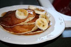 Mostly Homemade Mom - Banana Pancakes www.mostlyhomemademom.com