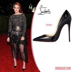 Kristen Stewart in Christian Louboutin Black Patent Leather So Kate Pumps - ShoeRazzi