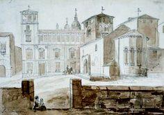 Salamanca en el ayer: Plaza de Colón. iglesia de s.adrian