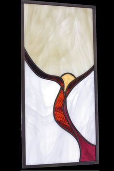 Abstract art stained glass panel.