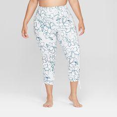 5f74e2c0ecb5d Women's Comfort High-Waisted 7/8 Leggings with Adjustable Ties - JoyLab  Charcoal Heather Xxl, Gray   Products   Leggings, Casual pants, Capri pants