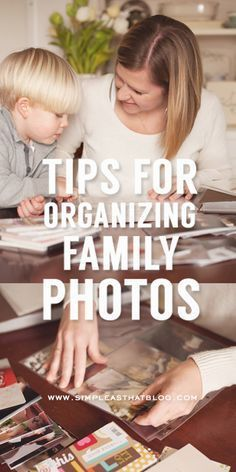 Some quick tips for getting your family photos organized! It's a big task but you will be much happier when it's done.