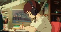 i love studio ghibli films, they make me happy. and since i am new fan, i still have a lot of catching up to do so please feel free to submit everything & anything ghibli! Art Studio Ghibli, Studio Ghibli Films, Studio Ghibli Characters, Old Anime, Manga Anime, Anime Art, Hayao Miyazaki, Totoro, Gif Studio