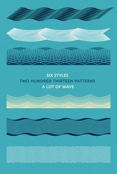 Atlantik typeface of wave ornaments #typography