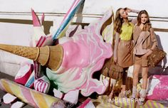 mulberry ss12 campaign // tim walker photographer with supermodel Lindsey Wixson