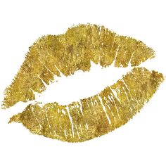 Faux Gold Lips Print Fashionista Lips Art Home Decor Bedroom Decor... ($13) ❤ liked on Polyvore featuring home, home decor, wall art, fillers, backgrounds, makeup, lips, effects, gold home accessories and gold wall art