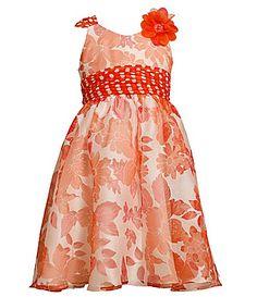 Bonnie Jean 716 Burnout Floral Dress #Dillards