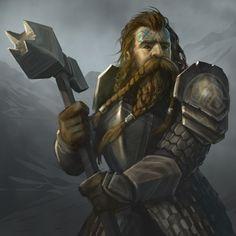 Dwarf knight with war hammer.  Cool face paint idea