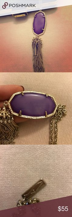 Vintage Kendra Scott Tassel Necklace 💜 Authentic Vintage Kendra Scott Purple Tassel Necklace 💜 Kendra Scott Jewelry Necklaces