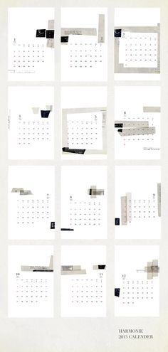 Beautiful calendar! - via vtwonen