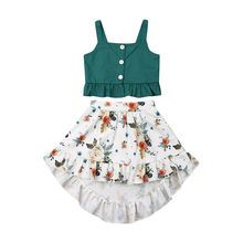 Toddler Baby Girl Clothes Outfit Set Summer Top T-shirt Floral Skirt Beach Dress Frock Design, Baby Dress Design, Baby Girl Dress Patterns, Girls Summer Outfits, Little Girl Dresses, Kids Outfits, Dress Girl, Summer Clothes, Baby Girl Skirts