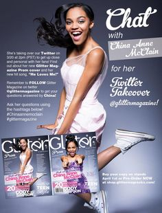 China Anne McClain Twitter Chat With Glitter Magazine March 20, 2014