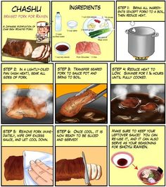 Chashu (Braised Pork for Ramen) I Chef Taro Ramen Recipes, Asian Recipes, Cooking Recipes, Cooking Pasta, Cooking Steak, Cooking Salmon, Cooking Games, Recipies, Japanese Dishes