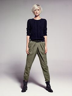 MANGO - CLOTHING - Trousers - Pleated baggy trousers