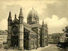 Postkarte von der Neuen Synagoge in der Bergstraße