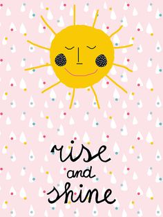 #Kids room #Rise and #shine poster | Ninainvorm
