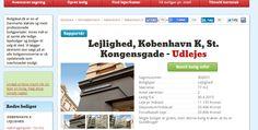 Lækker 2-værelses lejlighed lige ved Kongens Nytorv udlejes fra 30/4! Sagsnummer: 300057 #boligdeal #lækkerlejlighed #udlejes #boligjagt #boligsøgende #kigher