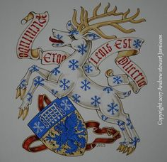 Heraldic Badge of Smith of Minnesota. Hand painted Coats of Arms painted by British heraldic artist Andrew Stewart Jamieson. Working to commission and considered to be one of the worlds leading heraldic artists his studio was established in 1983. (heraldry, coats of arms, heraldic artists, armorials, achievement of arms, crests) To commission heraldic paintings contact: enquiries@jamieso...