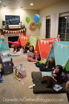 Domesticity: Emily's Glamping Birthday Party