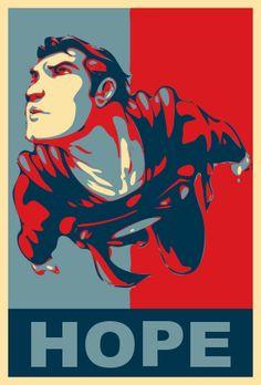 Superman - Obama Poster