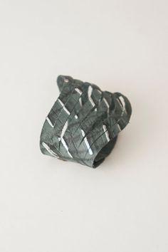 Genuine Leather Bracelet - Handmade - Silvery Green Khaki Unisex Man Woman Boyfriend - Laser Cut - Large #bestofEtsy #gifts
