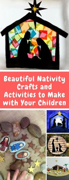 Nativity Crafts for Kids - Teach your child about the true meaning of Christmas with one of these beautiful Nativity crafts or activities for preschoolers and toddlers. Stained Glass, story stones and more