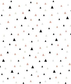 Black and Coral Triangles Wallpaper from Lilipinso. Pattern printed on non-woven paper. A very cute wall paper that comes in a wide range of patterns and colors Pink Beige, Black Pink, Rose Beige, Screen Wallpaper, Wallpaper Backgrounds, Textures Patterns, Print Patterns, Turquoise Wallpaper, Triangles