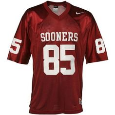 Wearing this football jersey is a great way to show your support for the Sooners.