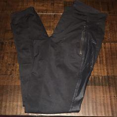 Lululemon Moto Leggings Sz M- great condition! Black with satin and zippers lululemon athletica Pants Leggings