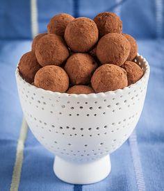 Deliciosas trufas de chocolate crudiveganas