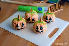Why eat boring ol' Rice Krispies treat squares when you can eat them in pumpkin form?
