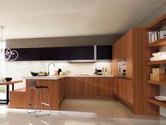 all wood modern kitchen