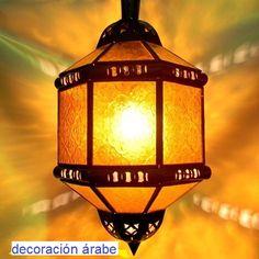 - Farol marroquí octogonal, varios colores - Decoración Árabe