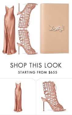 """""""winning rose gold"""" by icy-blonde ❤ liked on Polyvore featuring Mason by Michelle Mason, Sophia Webster, Yves Saint Laurent, YSL, sophiawebster and michellemason"""