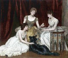 The Three Daughters of William Reed - John Collier  1886
